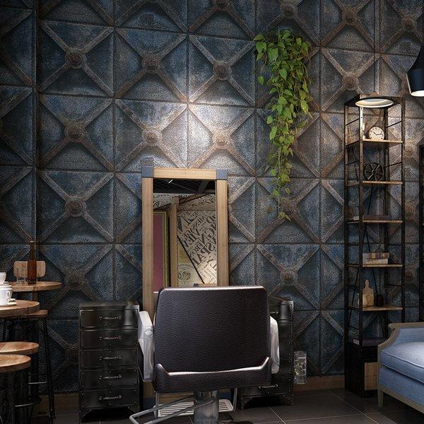 10m Persönlichkeit metallischen Hintergrund Wand retro industriellen Stil Tapete Nachahmung Eisen papel de pared Wand 3d