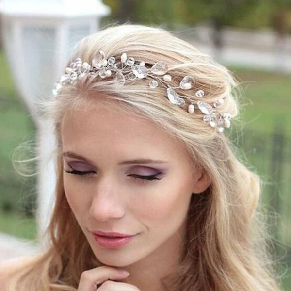 New silver hairbands wedding tiara wedding crown headbands bridal hair accessories head jewelry wedding hair accessories D19011005