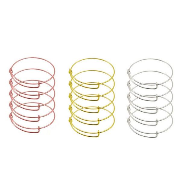 New Style Fashion erweiterbare Draht Armreif Schmuck Pick Größe Kabel Draht Armreif verstellbare Charm Armband Zubehör Valentinstag Geschenk