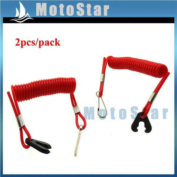 red safety tether lanyard cord for skill switch jet ski boat yamaha raptor banshee blaster atv quad