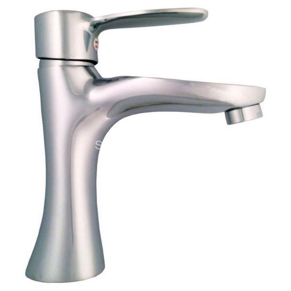 Polished Chrome Brass Single Lever Handle Bathroom Vessel Sink Basin Faucet Mixer Taps acy014