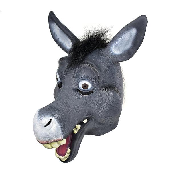 Shrek Donkey faccia piena testa la maschera di gomma degli animali in lattice più belle Companion per la celebrazione del partito costume magazzino in USA