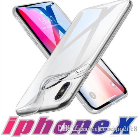 идеально подходит для 2018 NEW Iphone 8 XS XR MAX X Примечание 9 S7 0,3 мм Кристалл Гель Ультра-тонкий прозрачный мягкий TPU Clear Случаи