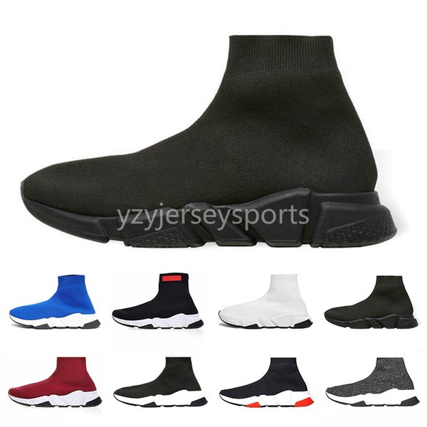 2019 Arrivlas designers Luxury B Women Men Speed Trainer off Red Triple Black Flat Casual shoes Sock Boots BL Shoes