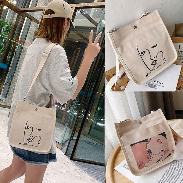 Womens Travel Messenger Purse Large Canvas Handbag Shoulder Bag Ladies Hobo Tote
