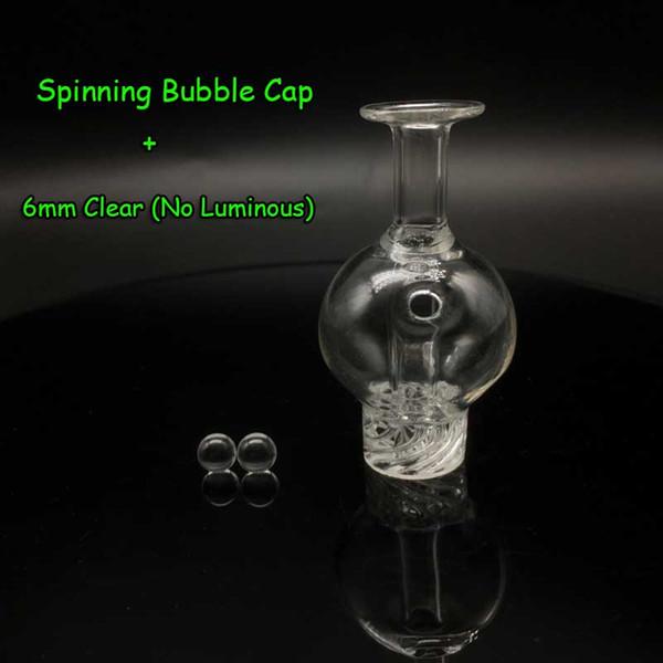 Casquillo de burbuja + 6mm perlas claras