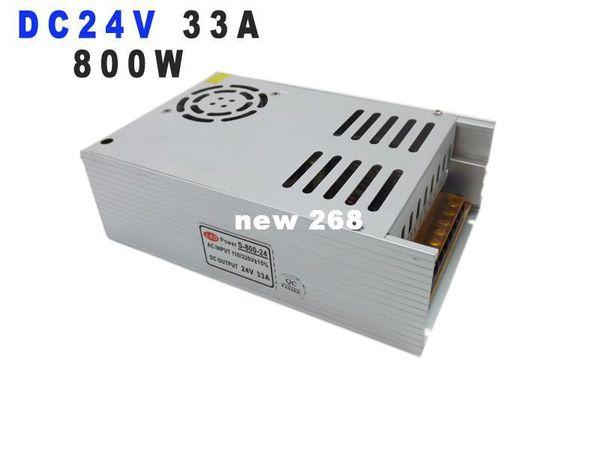 Freeshipping Nuevo modelo fuente de alimentación ac-dc 24v 33a 800W psu ac dc convertidor 220v 110V AC-DC LED Controlador DC24V Fuente de alimentación conmutada luz led