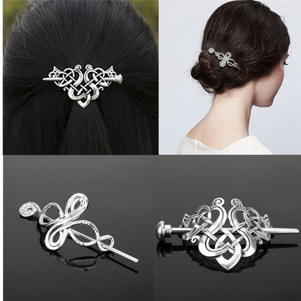 1 Pcs Vintage Fashion Knots Women Girls Hair Styling Clips Simple Charm Gold Silver Starfish Shell Pearl Hairpins Stick Headwear