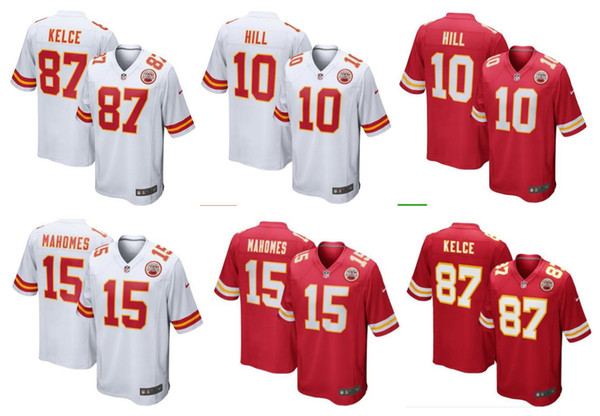 huge selection of 7c4f3 c0842 2019 Men'S Womens Kids Youth Kansas City Jerseys Chiefs #15 Patrick Mahomes  II 10 Tyreek Hill 87 Travis Kelce American Football Jersey From ...