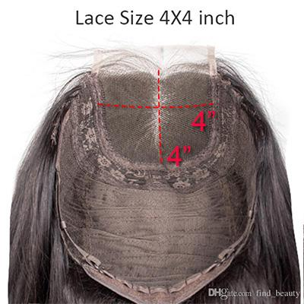 4 * 4 peluca de cierre