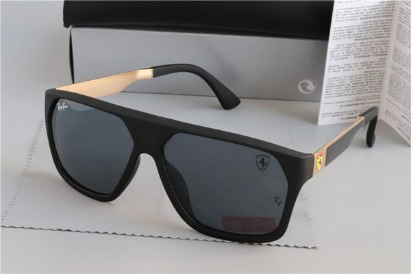 2019 Ray Sunglasses Vintage Pilot Brand Bans Sun Glasses Polarized Men  Women Ben Sunglasses RB3460M SCUDERIA FERRARI Sunglasses Case Knockaround