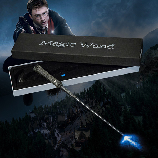 Harry Potter Led Light Up Magic Wand Cosplay With Full-styled Stage Props Action Figures Toys Christmas Gifts For Children Y190604