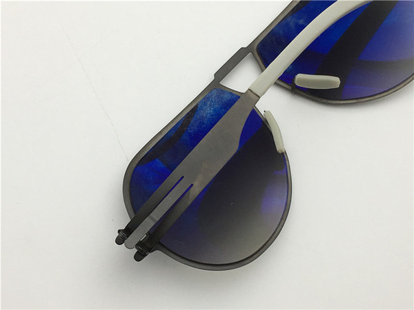 Wholesale- men brand sunglasses IC model neutor ultra-light without screw memory alloy glasses removable stainless steel pilots frame
