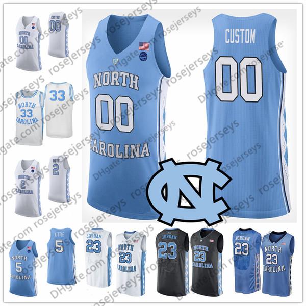Custom North Carolina Tar Heels College Basketball blue black white Stitched Any Name Number #13 Cameron Johnson Maye Little UNC 2 Jerseys