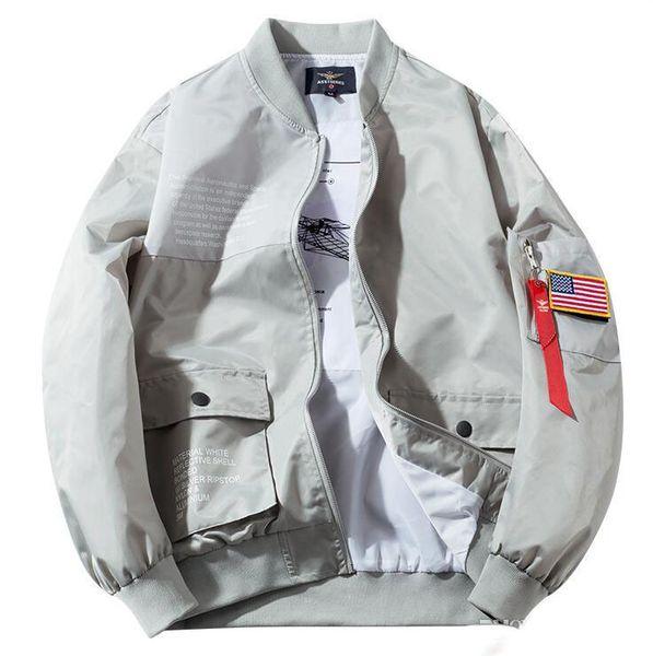 2019 Chaquetas de diseñador para hombre de otoño Nuevo piloto de vuelo de la NASA Abrigo informal Chaqueta de bombardero MA1 Carta Cazadora impresa Ropa de abrigo
