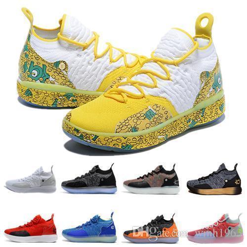 2019 New Hot Kevin Durant kd 11 Zapatillas de baloncesto Durant Gold / Championship MVP Finals de entrenamiento Zapatillas deportivas Zapatillas deportivas Tamaño 7-12