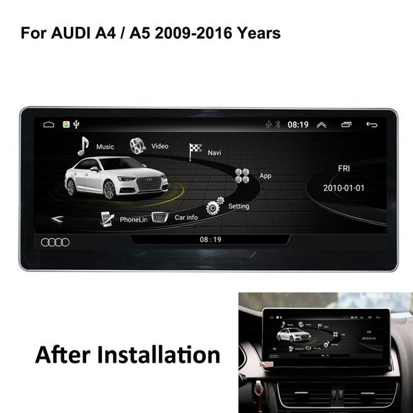 COIKA Android 6.0 System 2 + 32G RAM DVD DVD para Audi A4 A5 2009-2016 IPS Espejo de pantalla de Google Carplay WIFI BT SWC DVR