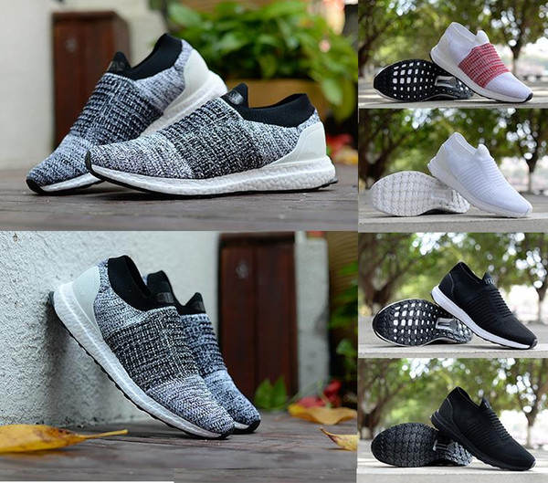 best selling 2018 Wholesale Hot sale Supply Ultraboost Uncaged Men's casual shoes Grey Orange Laceless Mid Slip-On Women Sneakers Ultra Boosts size 36-45