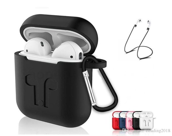 Design Soft Silicone Case For Airpods Air Pods Shockproof Earphone Protective Cover Waterproof for iPhone X XR XS MAX Headset Accessories