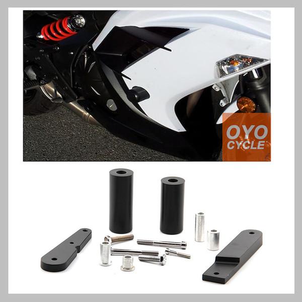 Cadre curseur pour 2009-2011 Ninja 650 EX650 650R 2009 2010 2011 Motorcycle Crash Pad Protection chute