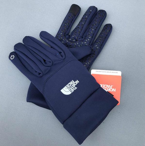 deportes calientes de la venta de otoño invierno guantes de pantalla táctil de esquí de fondo de pantalla guantes de mujer hombre de fútbol cálida lana de cera