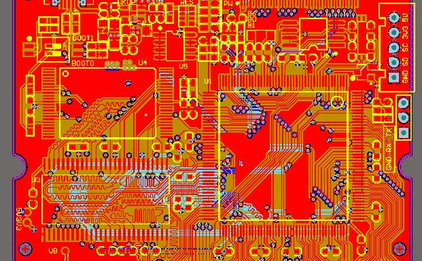 best selling STM32F429 development board schematic and PCB STM32F429IGT6 MT29F4G08 W9825 W25Q RT9193 sch pcb