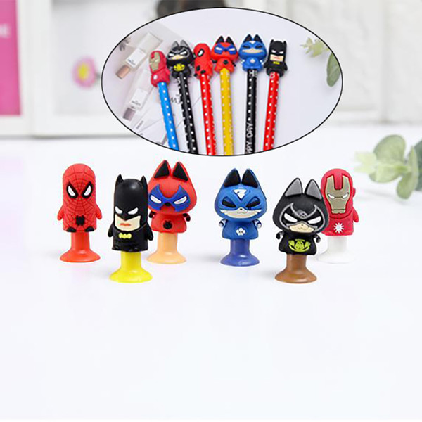 best selling Movie Action Figures Cat spider Bat and Men of Iron Mini Sucker Cup Funny Creative Toy Kids Pencil Topper Decor