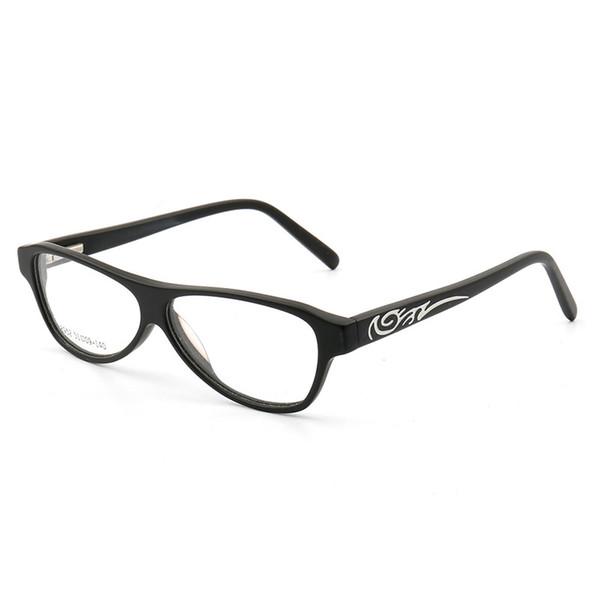 Coyee 2019 New Brand Cat Eye Glassses Small Frame For Women Men Acetate Material Handmade Decorative Pattern Myopia RX Eyewear