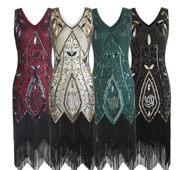2019 Women 1920s Flapper Dress Gatsby Vintage Plus Size Roaring 20s Costume  Dresses Fringed For Party Prom From Cageclothing, $50.14 | DHgate.Com