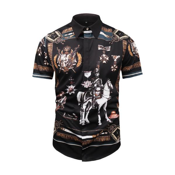 2019ss Men's business shirt Brand New Mens Medusa Shirts 2019 slim Long Sleeved Slim Fit Dress Shirts Business Casual Men Shirt