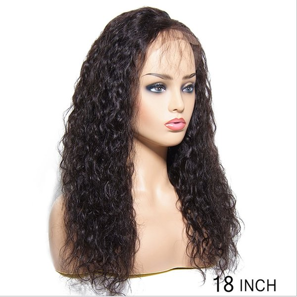 Human Hair Wigs Brazilian Virgin Hair,130% Density Lace Front Wigs Human Hair for Black Women, Curly Natural Black Color Wigs on Sale