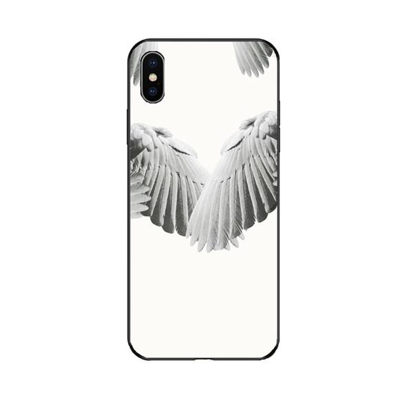 GV Designer Phone Case для Iphone 6 / 6s, 6p/6sp, 7/8 7p/8p X / XS, XRXSMax Fashion Wing Print роскошная задняя крышка горячая распродажа черно-белый