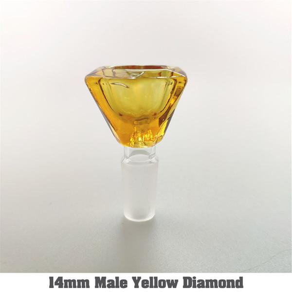 14mm masculino diamante amarillo