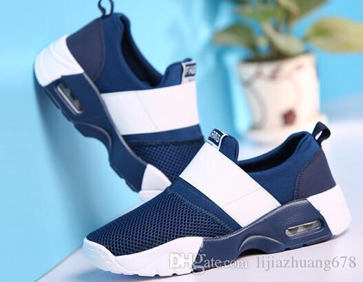 2019 летняя новая мужская обувь дышащая сетка повседневная мода корейском стиле на воздушной подушке спортивная обувь пара легкие туфли