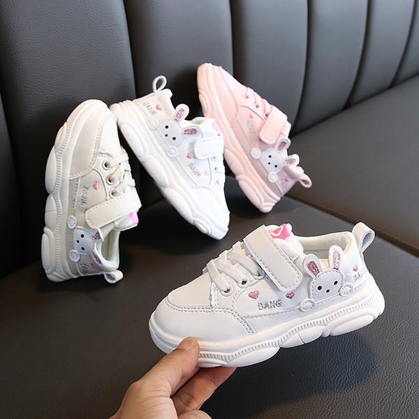 Crianças infantil Crianças Bebés Meninas Escala única pérola Plano Princesa sapatos de desporto