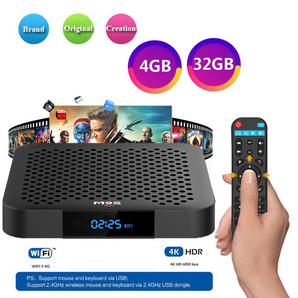 [2019 Hot 4G 32G TV Box] CAJA TV M9S J2 RK3328 4K Android 8.1 Smart TV Box Soporte 2.4G WIFI Reproductor multimedia mejor H96 X96 MAX A9X T95Q Y2