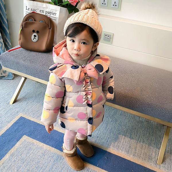 f0a6a70a1ed Mihkalev Детские комбинезоны для девочек зимние пальто для девочки малышей  куртка вниз пальто дети утолщаются пальто