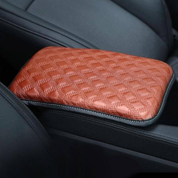 yentl free shipping Auto Armrest Cover Vehicle Center Console Armrest Universal Leather Car