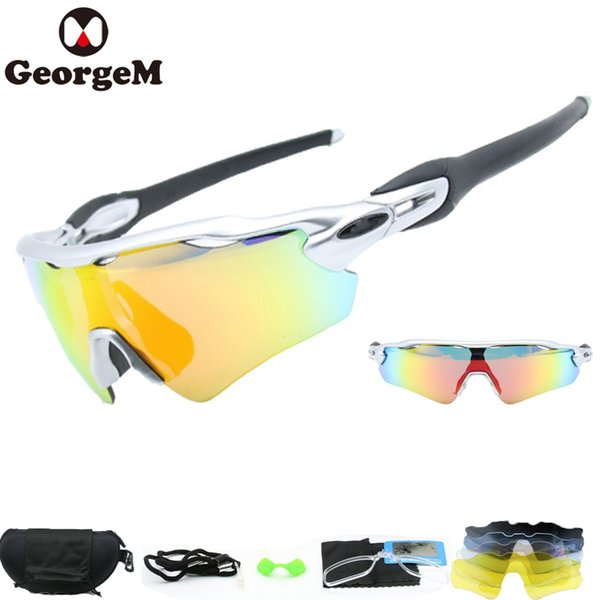extrêmement unique chercher magasins populaires 2019 GeorgeM Outdoor Sport MTB Bike Sunglasses Eyewear Polarized Lunette  Soleil Homme Sunglasses Men Cycling Bike Glasses 5 Lens #171530 From ...