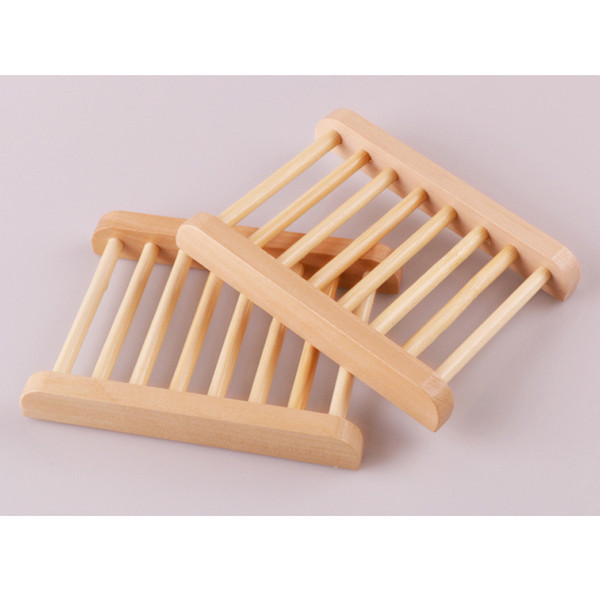 best selling Soap Dishes Natural Wooden Soap Tray Holder Bath Soap Rack Plate Container Shower Bathroom Accessories Hollow OEM Available