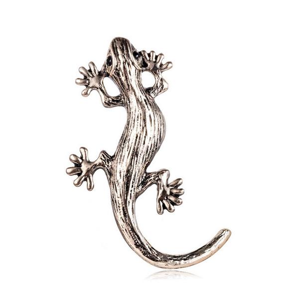 cute mini brooch gecko lizard colorful Brooch for Women/ men Wholesale Very Beautiful deer Rhinestone Poppy Brooch Pins Christmas Brooches