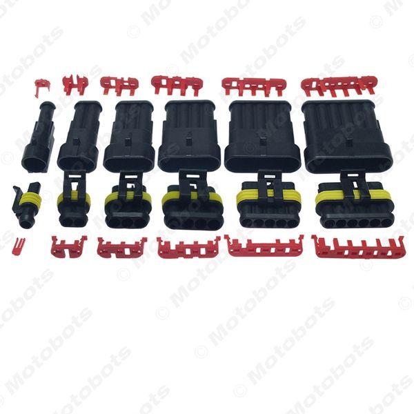 vente en gros auto étanche 1/2/3/4/5/6 broche manière connecteur de fil électrique plug voiture moto Marine HID AWG prise # 3924