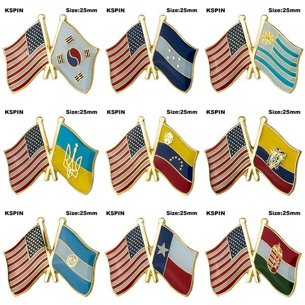 USA Freundschaft Flagge Abzeichen Flagge Brosche Nationalflagge Anstecknadel