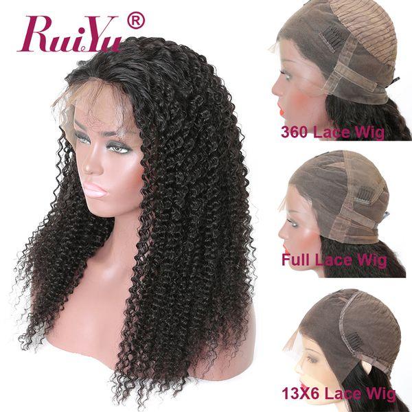 Pelucas rizadas afro rizadas pelucas de cabello humano de encaje completo sin cola con cabello de bebé cabello virginal brasileño peluca frontal de encaje 360 para mujeres negras