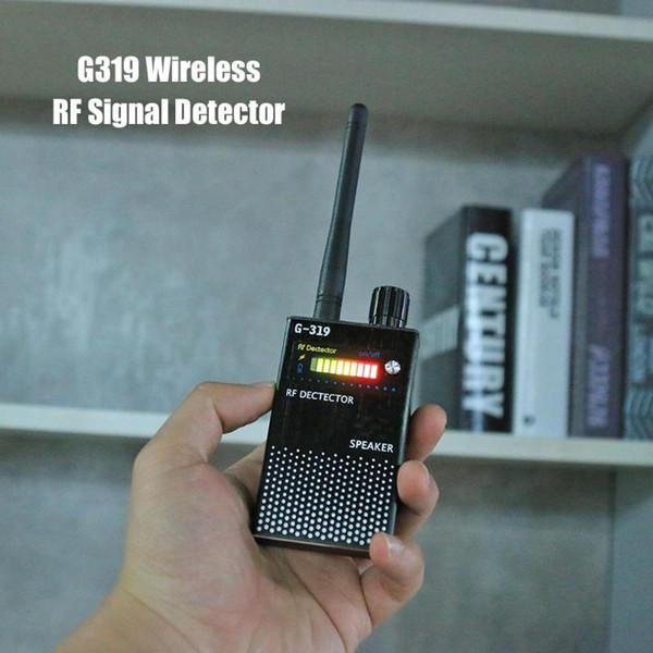 G319 Rilevatore di segnale RF senza fili Full Range Signal Bug Detector Localizzatore GPS Rilevatore telefono US Plug EU