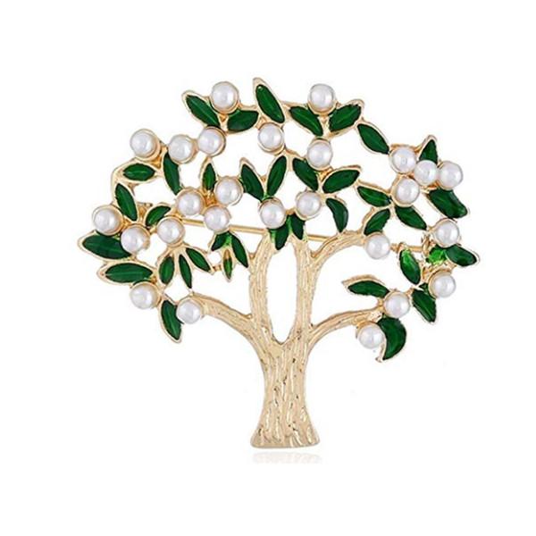 Cute Enamel Cactus Tree Brooch Pin Elegant Plant Leaf Flower Jewelry Lapel Pin for Women Girls Men Gift