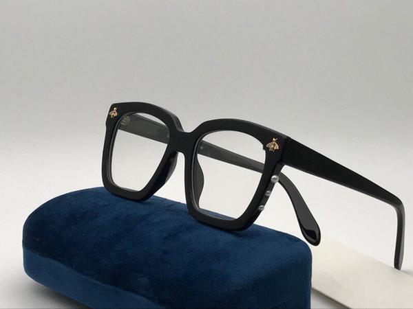 Yeni moda tasarımcısı Optik gözlük 0409 kare çerçeve popüler tarzı en kaliteli satış HD şeffaf lens ile Basit stil gözlük kutusu