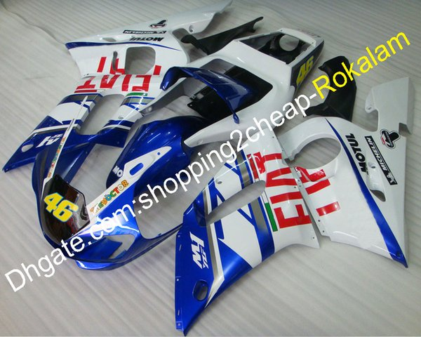 For Yamaha Fairings Fit YZFR6 YZF 600 R6 1998 1999 2000 2001 2002 YZF-R6 ABS Plastic Bodywork Cowling Aftermarket Kit (Injection molding)