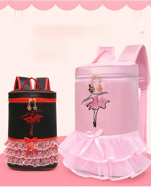 Dance Ballet Bag Baby children ballerina Backpack Kid Handbag with Cute Tutu Skirt Dress design bag Lace for Dancers LJJK1741