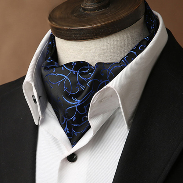 Wholesale double-sided men's scarf British retro suit silk scarf
